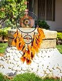Daedal dream catchers – Intricate web design(Orange And Black)