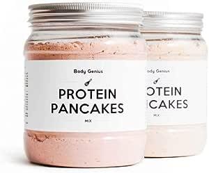BODY GENIUS Dúo Protein Pancakes (Pizza y Queso) 2x400g ...
