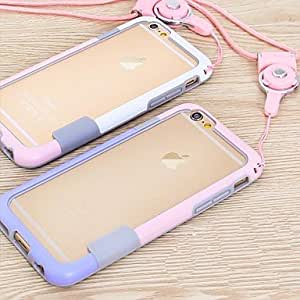 PG Twin Color Frame with Hang Rope Case for iPhone 6 Plus (8#)