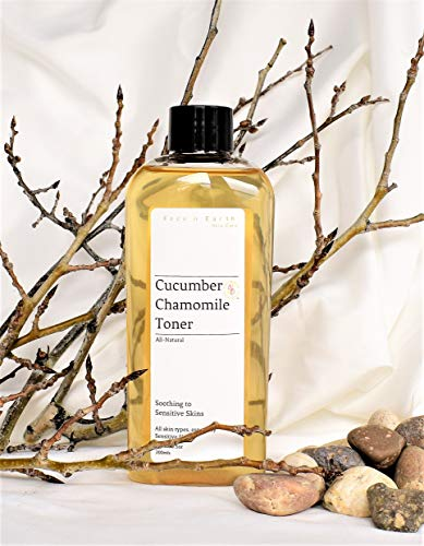 Sensitive Skin Toner Cucumber & Chamomile - Alcohol/Oil Free, All Skin Types including Sensitive Skin - Vegan Chemical Toxic Free ()