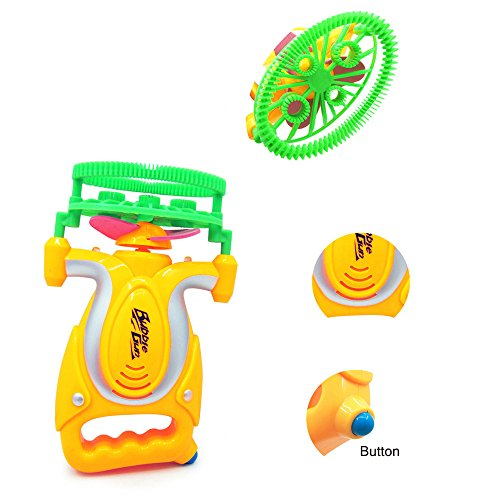 Weiliru Bubble Machine Automatic Bubble Maker with,Great Toy for Toddlers, Extra Gift of Children's Day for Birthday Party, Indoor and Outdoor]()