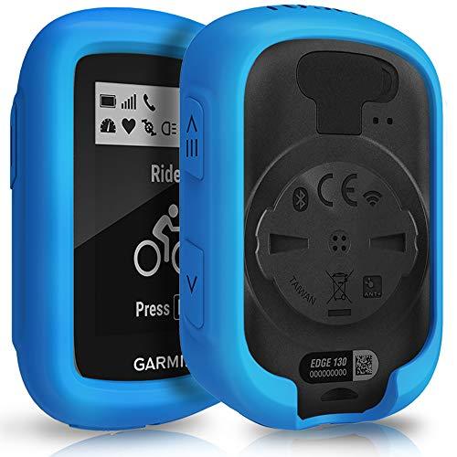 TUSITA Case for Garmin Edge 130 GPS - Silicone Protective Cover Skin - GPS Bike Computer Accessories (Blue)