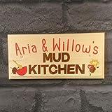 Personalised Childrens Mud Kitchen Sign/Plaque / Gift/Handmade Wooden Garden Playhouse Kids Girls Boys Toys
