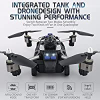 JJRC H40 2.4G 4CH 6 Axis RC Drone With WIFI Camera Air and Ground Mode Headless Mode One Key Land RC Tank Quadcopter VS H31 H37