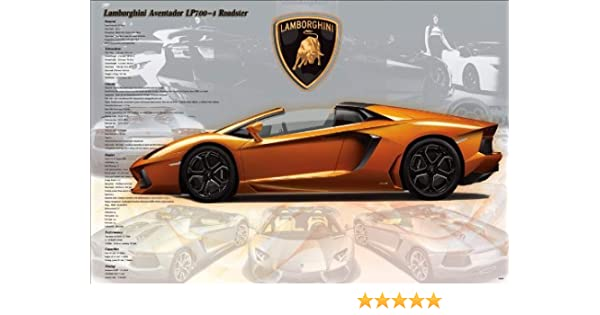 Amazon Com Lamborghini Aventador Lp700 4 Roadster Super Car Motor