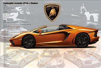 Amazon Com Lamborghini Aventador Lp700 4 Roadster Super Car Motor