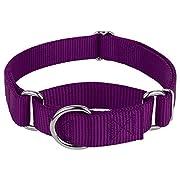 Country Brook Design - Martingale Heavyduty Nylon Dog Collar - Purple - Medium