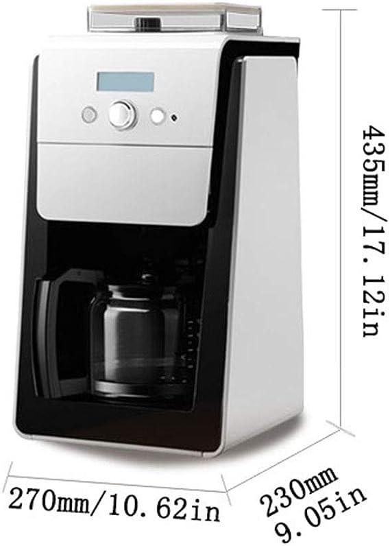 Compacta Máquina de café, tazas del filtro cafetera con café de olla, Cafetera goteo con pantalla LCD, 2~10 Copas Copa capacidad (opcional), Americano: Amazon.es: Hogar