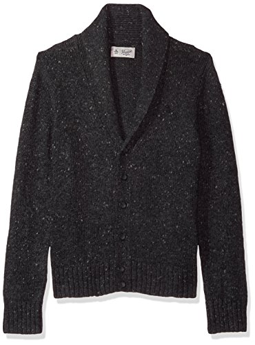 's Donegal Shawl Cardigan, Dark Charcoal Heather, Extra Large ()