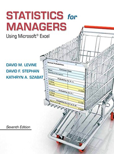 Statistics for Managers Using Microsoft Excel (7th Edition) Pdf