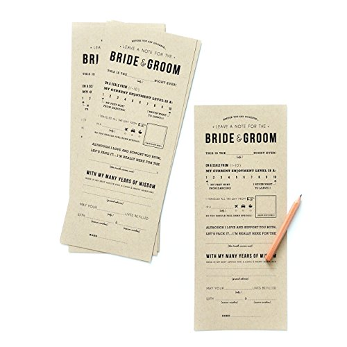 Original Wedding Adlib Advice Cards