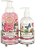 Michel Design Works Foaming Hand Soap and Lotion Caddy Gift Set, Peony