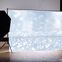 Mikey Store 3x5FT Studio Props Backdrop Dreamlike Glitter Vinyl Curtains for Party Photo (Color B, 150*90cm)