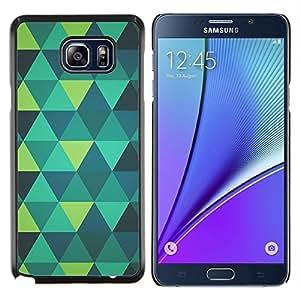 YiPhone /// Prima de resorte delgada de la cubierta del caso de Shell Armor - arte polígono verde menta verde azulado modelo azul - Samsung Galaxy Note 5 5th N9200