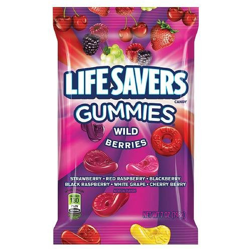 Life Savers Wild Berries Gummies Candy Bag, 7 -