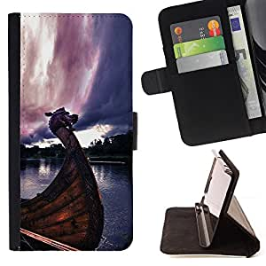 For LG G3 Viking Ship Style PU Leather Case Wallet Flip Stand Flap Closure Cover