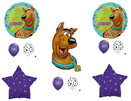 SCOOBY DOO Purple Bones Happy Birthday Party Balloons Decoration Supplies Shaggy Paw Dog