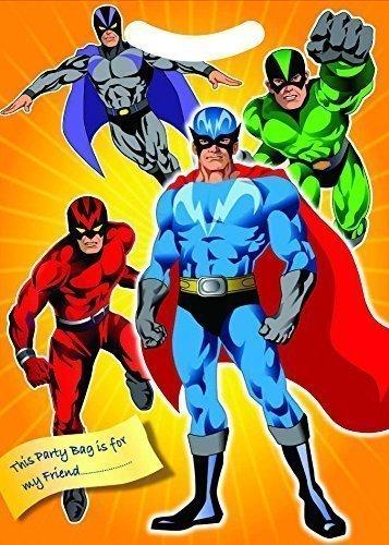12 x Superhéroe Bolsas Cotillón: Amazon.es: Juguetes y juegos