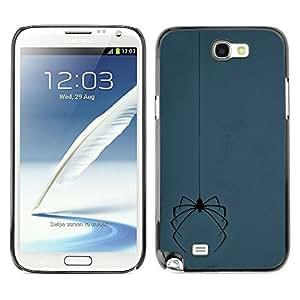 Jordan Colourful Shop - Creepy Halloween Spider Grey Spooky For Samsung Note 2 N7100 Personalizado negro cubierta de la caja de pl????stico
