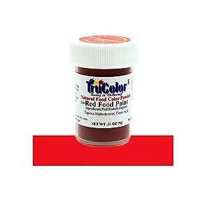 TruColor Red Airbrush Natural Food-Coloring Powder Paint, 9 Grams