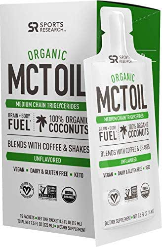 Vitamins & Supplements: Sports Research Organic MCT Oil Travel Packs