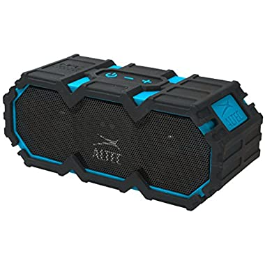 Altec Lansing LifeJacket Next Generation Ultra Portable Wireless Bluetooth Speaker : Waterproof, Sandproof, Floats in the WATER, Ultra Loud Power, More Bass,  Perfect Speaker for Golf, Beach, Shower & Home (Blue)