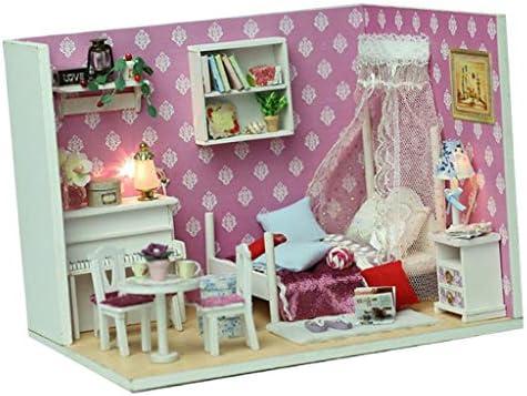 ミニチュア ドールハウスキット 木製 DIY人形ハウス 全3色 - #2