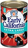 Early California Ripe Pitted Extra-Large Black Olives, (12) 6-Ounce Cans
