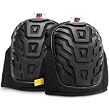 Knee Pads for Work - Professional Gel Knee Pads for Men and Women - Heavy Duty Comfortable Foam Padding with Velcro & Neoprene Straps - Best For Construction, Gardening, Flooring & Cleaning