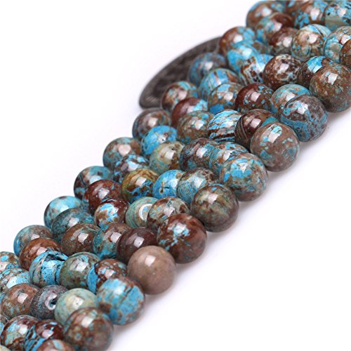 - Joe Foreman Blue Crazy Lace Agate Beads for Jewelry Making Natural Semi Precious Gemstone 6mm Round Strand 15