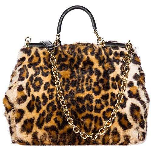 main marron sicily femme Gabbana amp; Leo cuir en Dolce à sac IBq6P