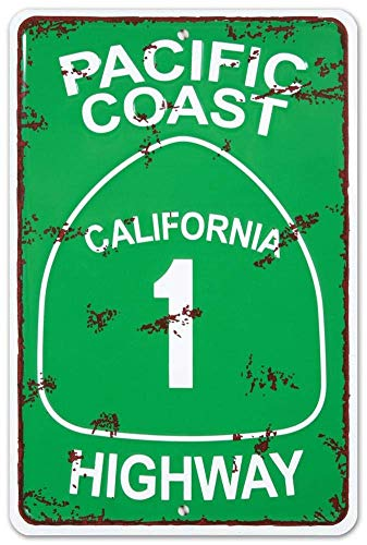Pacific Coast Highway Iron Sign 8 x 12inch