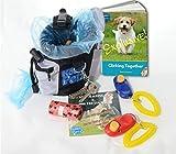 Dog Training Clicker Kit for Affordable Puppy Training. Rapid Rewards Treat Bag, Poop Bag Dispenser, Spare Pet Training Clicker, 15 Waste Bags, Bonus Clicker Training eBook