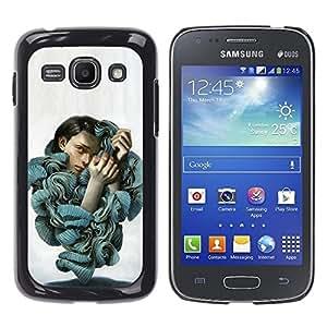 Be Good Phone Accessory // Dura Cáscara cubierta Protectora Caso Carcasa Funda de Protección para Samsung Galaxy Ace 3 GT-S7270 GT-S7275 GT-S7272 // Ruffles Fashion Blouse Woman Port