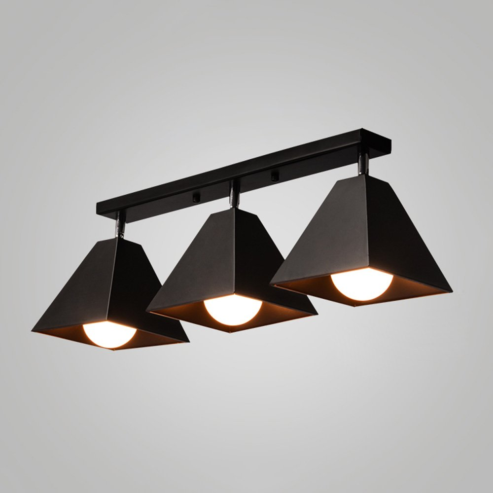 Iron Small Ceiling Lamp LED Nordic Creative Ceiling Light For Living Room Aisle Corridor Cloakroom Balcony Bay Window Cafe Chandelier ( Color : Black , Size : C )