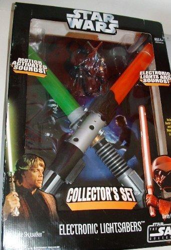 Star Wars Throne Room Duel Electronic Lightsaber Set Exclusive Luke Skywalker VS Darth Vader (Yoda Vs Darth Sidious Lightsaber)