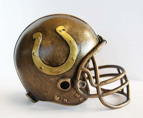 NFL Indianapolis Colts Desktop Helmet Statue - Team Desk Colts Indianapolis