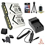 Two Halcyon 1800 mAH Lithium Ion Replacement Sony NP-BX1 Battery and Charger Kit + Memory Card Wallet + SDHC Card USB Reader + Deluxe Starter Kit for Sony Cyber-shot DSC-RX100 II Digital Camera and Sony NP-BX1