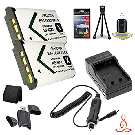 Deluxe Starter Kit for Sony Cyber-Shot DSC-RX1R Digital Camera and Sony NP-BX1 Memory Card Wallet SDHC Card USB Reader Two Halcyon 1800 mAH Lithium Ion Replacement Sony NP-BX1 Battery