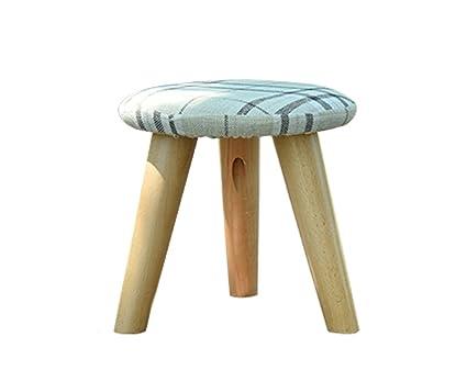 Hjhy® sgabello in legno massello di scarpe sgabello di metallo