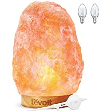 Levoit Kana Himalayan Salt Lamp Natural Himilian Hymalain Pink Salt Rock Lamps(5-8 lbs,6.5-9), Ideal Decorations & Gifts, Touch Dimmer Switch, 3 X 15Watt Bulbs,UL Cord & Gift Box