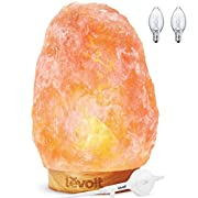 Levoit Kana Himalayan Salt Lamp Natural Himilian Hymalain Pink Salt Rock Lamps(5-8 lbs,6.5-9), Ideal Decorations & Gifts, Touch Dimmer Switch, 3 X 15Watt Bulbs,UL Cord & Gift Box