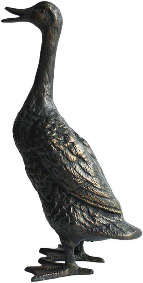 Mnjin Decoración del hogar Jardín Pato Estatua, Pato Escultura Patio Hierro Fundido Animal Pájaro Decoración Vintage Jardín Ornamento Creativo