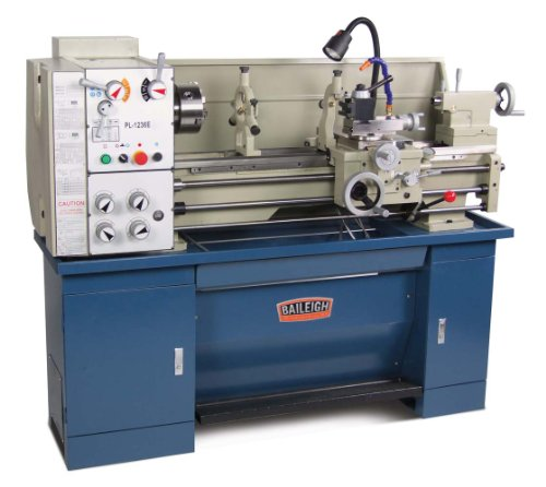 "Baileigh PL-1236E Dual Voltage Metal Lathe, 1-Phase 110/220V, 12"" Swing, 36"" Bed Length"