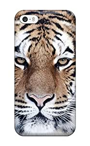 Premium Durable Tiger Close Up Fashion Tpu Iphone 5/5s Protective Case Cover