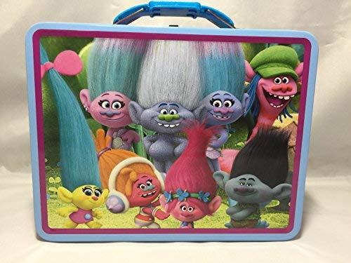 Dreamworks Trolls Princess Poppy and Friends Storage Tin Lunch Bag Box (Poppy&Friends)