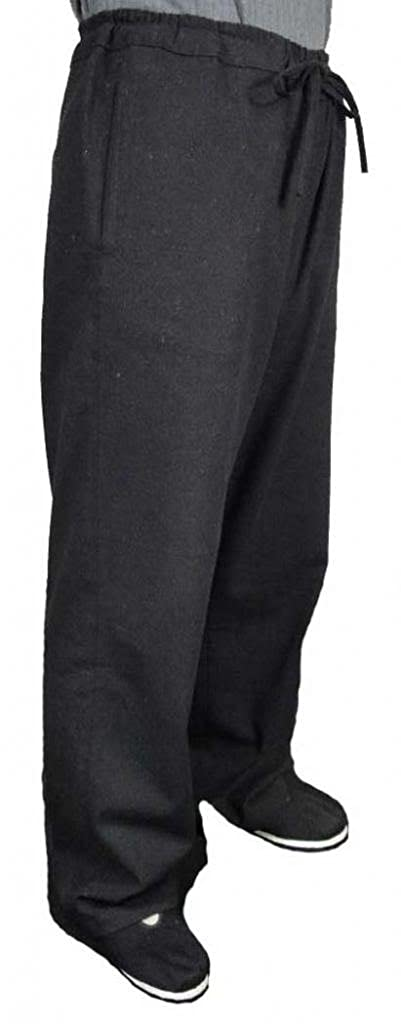 100% Cotton Black Kung Fu Martial Arts Tai Chi Pant Trousers XS-XL Tailor Custom Made + Free Magazine