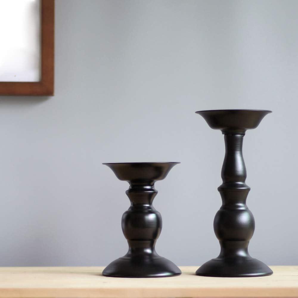 tavoli da Pra Oppinty Portacandele portacandele in Metallo Vaso di Fiori candelabri Neri di Moda Portacandele per Matrimoni Squisito candeliere da tavola per la casa per Matrimoni