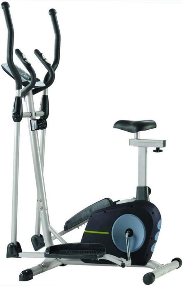 NO BRAND Entrenamiento Bicicleta elíptica máquina elíptica Cardio Fitness máquina de Entrenamiento de Control Elíptica con el Monitor LCD magnética 105x61x158cm sesión de Cardio: Amazon.es: Jardín