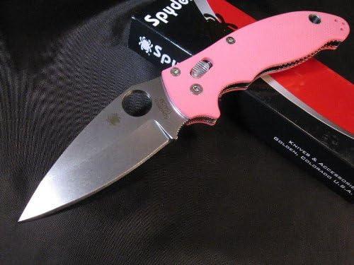 Amazon com : Spyderco Manix 2 Pink G-10 Sprint Run, Limited